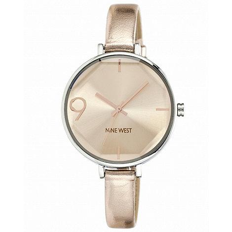 Nine West - Ladies rose metallic strap watch