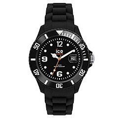 ICE - Unisex black silicone watch