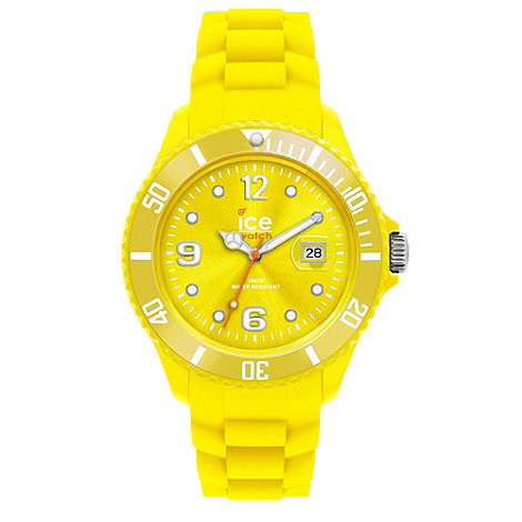 Ice - Unisex large yellow silicone watch