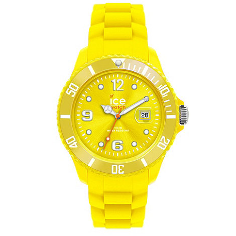 Ice - Unisex small yellow silicone watch