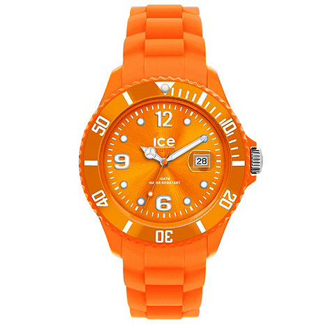 Ice - Unisex orange silicone watch