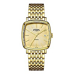 Rotary - Men's gold 'Windsor Cushion' watch GB05308/03