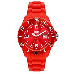 ICE - Unisex red silicone watch