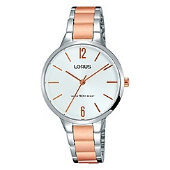 Lorus - Ladies dress bracelet watch with a soft silver sunray dial