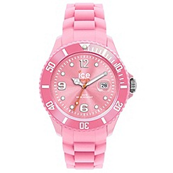 ICE - Unisex pink silicone watch