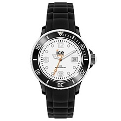 ICE - Unisex black and white silicone watch
