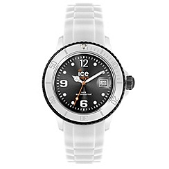 ICE - Unisex small white and black silicone watch