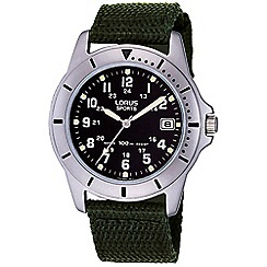 Lorus - Mens military style canvas strap sports watch