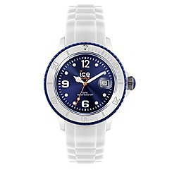 ICE - Unisex white and blue silicone watch