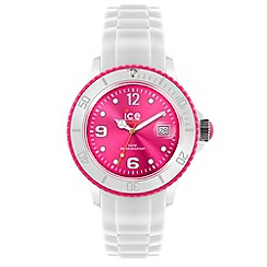 ICE - Unisex white and pink silicone watch