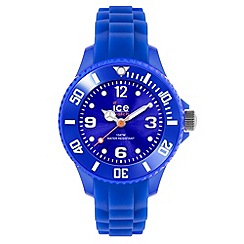 ICE - Unisex medium blue silicone watch