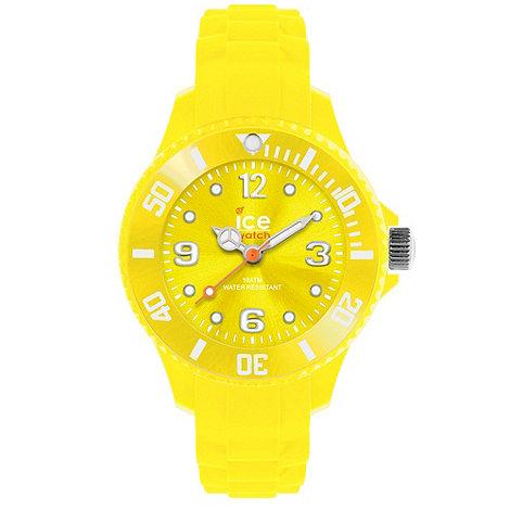 Ice - Unisex medium yellow silicone watch