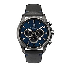 Accurist - Men's black chronograph watch 7180