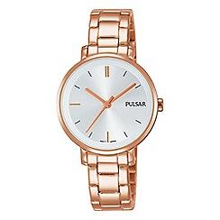 Pulsar - Ladies rose gold place bracelet watch