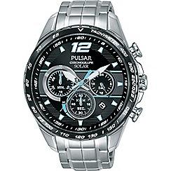 Pulsar - Solar chronograph stainless steel bracelet