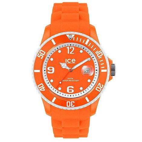 Ice - Unisex small neon orange silicone watch