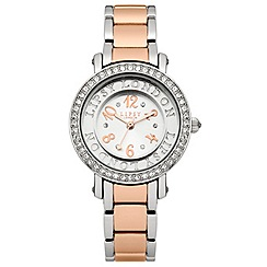 Lipsy - Ladies two tone bracelet watch with silver tone dial