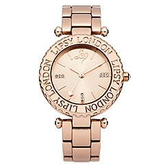 Lipsy - Ladies rose gold tone bracelet watch with rose gold tone dial