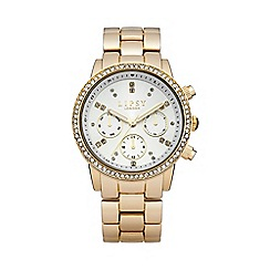 Lipsy - Ladies gold tone bracelet watch with white dial