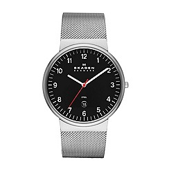 Skagen - Men's three-hand date stainless steel watch