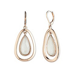 Anne Klein - Rose gold 'Aventura' teardrop earrings