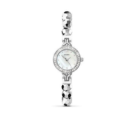 Sekonda - Ladies round dial stone set fashion watch