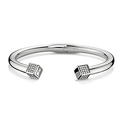 Tommy Hilfiger - Ladies stainless steel pave hinged bangle2700740