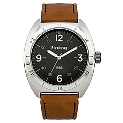 Firetrap - Men's brown strap watch with black dial