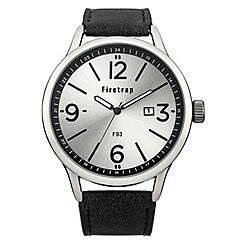 Firetrap - Men's black strap watch with silver dial