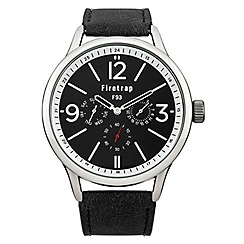 Firetrap - Men's black strap watch with black dial