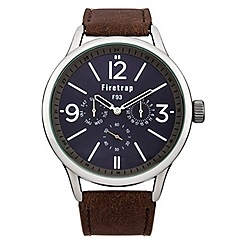Firetrap - Men's brown strap watch with blue dial