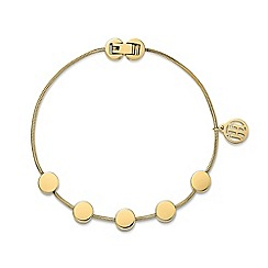 Tommy Hilfiger - Ladies stainless steel gold IP multi coin bracelet2700980