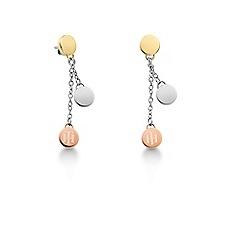 Tommy Hilfiger - Ladies stainless steel, multi coing drop earrings