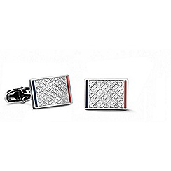 Tommy Hilfiger - Gents stainless steel Jacquard print cufflinks2700696