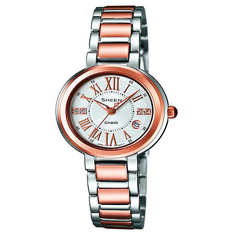 Sheen - Ladies rose gold detail bracelet watch