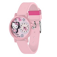 Hello Kitty - Kids' light pink strap with 3D dial analogue watch