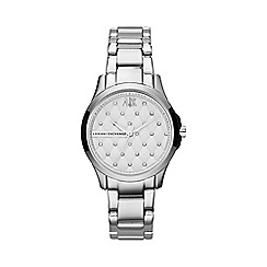 Armani Exchange - Ladies stainless steel quilted dial watch