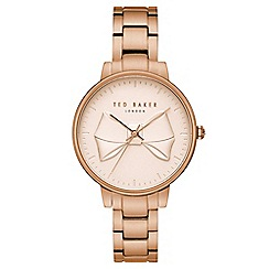 Ted Baker - Ladies rose gold analogue watch te15197002