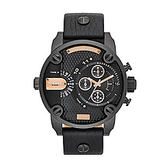 Diesel - Men's black rose gold chronograph watch