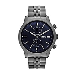 Fossil - Men's gunmetal stainless steel bracelet watch