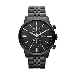 Fossil - Men's black stainless steel bracelet watch