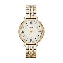 Fossil - Ladies gold stainless steel Roman numeral dial watch