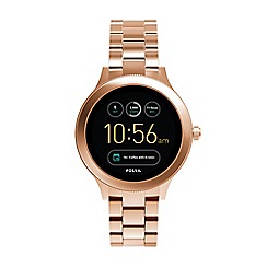 Fossil - Venture rose gold tone stainless steel smart watch