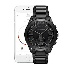 Armani Exchange - Connected black stainless steel hybrid smart watch