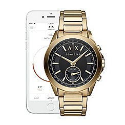 Armani Exchange - Connected gold stainless steel hybrid smart watch