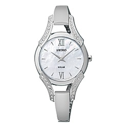 Seiko - Ladies silver solar watch