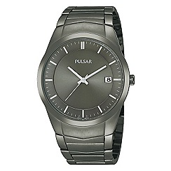 Pulsar - Men's gun metal stainless steel watch