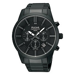 Pulsar - Men's chronograph dark grey bracelet watch
