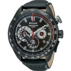 Pulsar - Men's black tachymeter chronograph watch