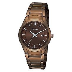 Pulsar - Ladies bronze round dial watch